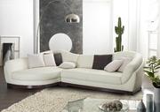 Petunia диван ,   кожа белая,  угловой