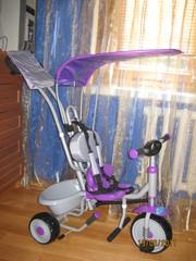 Трехколесный велосипед Super Star с козырьком аналог велосипедов MillyMal