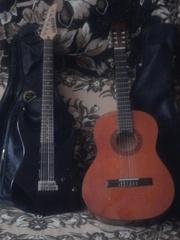 продам две гитары электрогитара  Yamaha erg 121 и классика Stagg