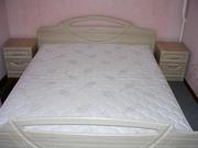 Продам б/у Полтава: 2-спальная кровать + матрас,   комод,  2 тумбочки