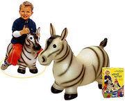 Надувная игрушка- попрыгунчик зебра