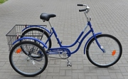 Взрослый Трёхколёсный Грузовой велосипед с корзиной