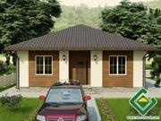 Строительство панельно-каркасных домов под ключ (СИП-панели) 90, 54 м2