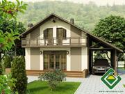 Строительство панельно-каркасных домов под ключ (СИП-панели) 151, 99 м2
