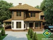 Строительство панельно-каркасных домов под ключ (СИП-панели) 278, 52 м2