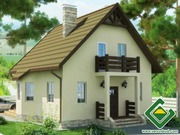 Строительство панельно-каркасных домов под ключ (СИП-панели) 98, 24 м2