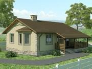 Строительство панельно-каркасных домов под ключ (СИП-панели) 78, 99 m2