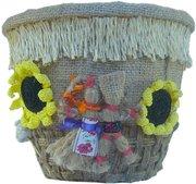 Дизайнерский горшок для цветов Деревенская жизнь ручной работы