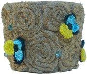 Подарок ручной работы для любимых: Горшок для цветов Фиалка полевая