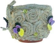 Подарок для любимых: Цветочный горшок ручной работы Фиалка полевая