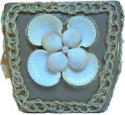 Подарок. Горшок для цветов Морское воспоминание ручной работы.