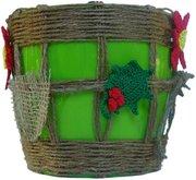 Горшочек для цветов Тень на плетень - ручной работы,  эксклюзив