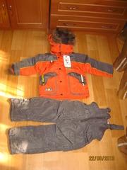 Дитский комбинезон (полукомбинезон и куртка) аналог Кико на флисе с