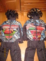 Зимняя куртка и комбинезон с натуральной опушкой  ТАЧКИ