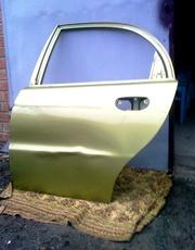 Продам дёшево дверь левую заднюю на авто Daewoo Lanos (под рехтовку).