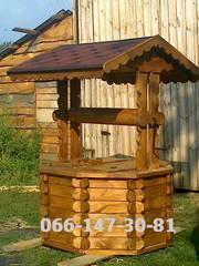 Домики для колодцев из дерева ,  беседка .