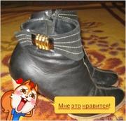 Продам ботинки, кожзаменитель, стильные)))