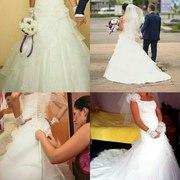 Срочно продам свадебное платье б/у в отличном состоянии