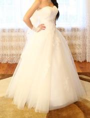 Срочно! Продам белое свадебное платье