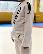 Детское кимоно для Дзюдо,  белое с поясом